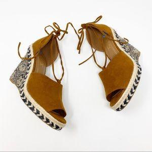 Sugar Espadrille Wedge Sandals Women's Size 6.5